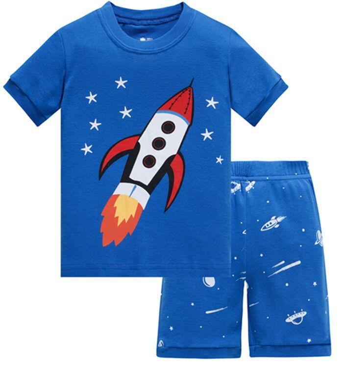 47ab6d2a5141 Baby Pajamas Boys Whale Sleepwear Pajamas Summer Short Sleeve ...