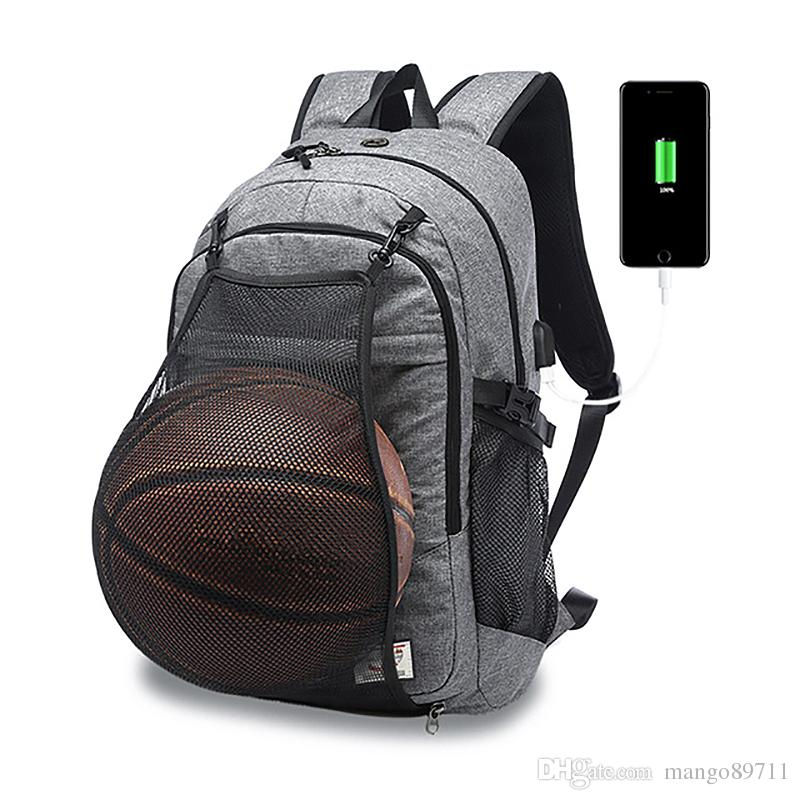 579d63014e28 Sport Backpack Men Basketball Backpack School Bag For Teenager Boys Soccer  Ball Pack Laptop Bag Football Net Gym Bags Male Daypack Swissgear Backpack  From ...