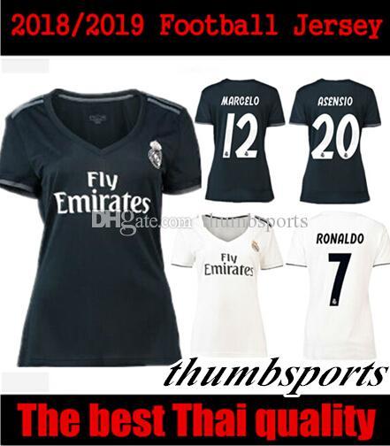 c28fc9809 Women 18 19 Real Madrid Soccer Jerseys Ronaldo Shirts 2019 MODRIC ...