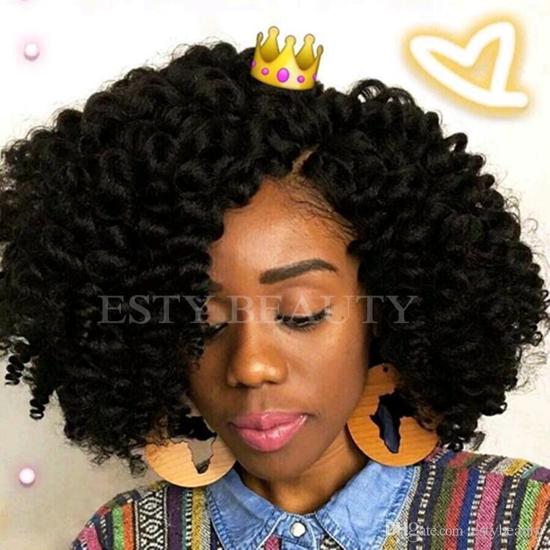 2019 Jumpy Wand Curl Short Length Ombre Crochet Hair Extension