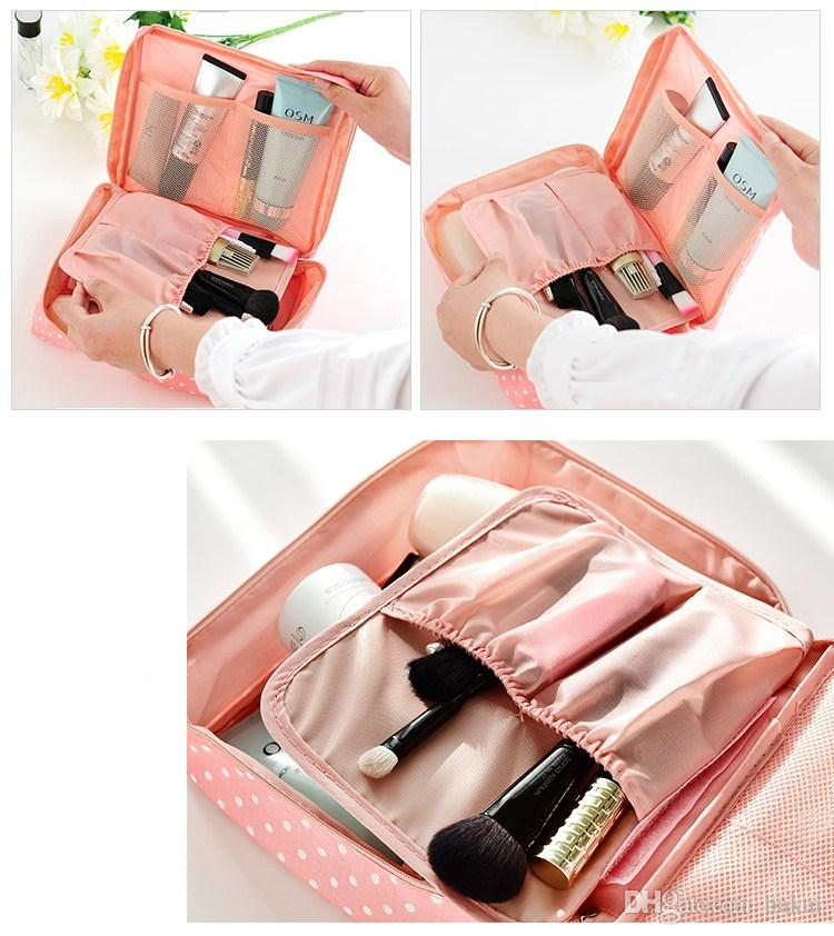 Portable toiletry bag with large size hand bag, han day contracted small size waterproof travel portable toiletries.