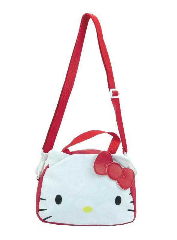 3a4b65715187 Cute Cartoon Hello Kitty Canvas Toto Bag Handbag Shoulder Messenger Bag  Kids Travel Crossbody Bags for Girls