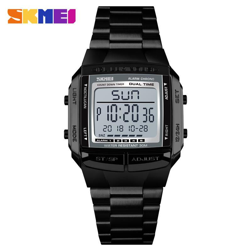 a9330ff8523 SKMEI Sports Watches Waterproof Mens Watches Top Brand Luxury Clock  Electronic LED Digital Watch Men Relogio Masculino Gold Watch Cool Watches  From ...