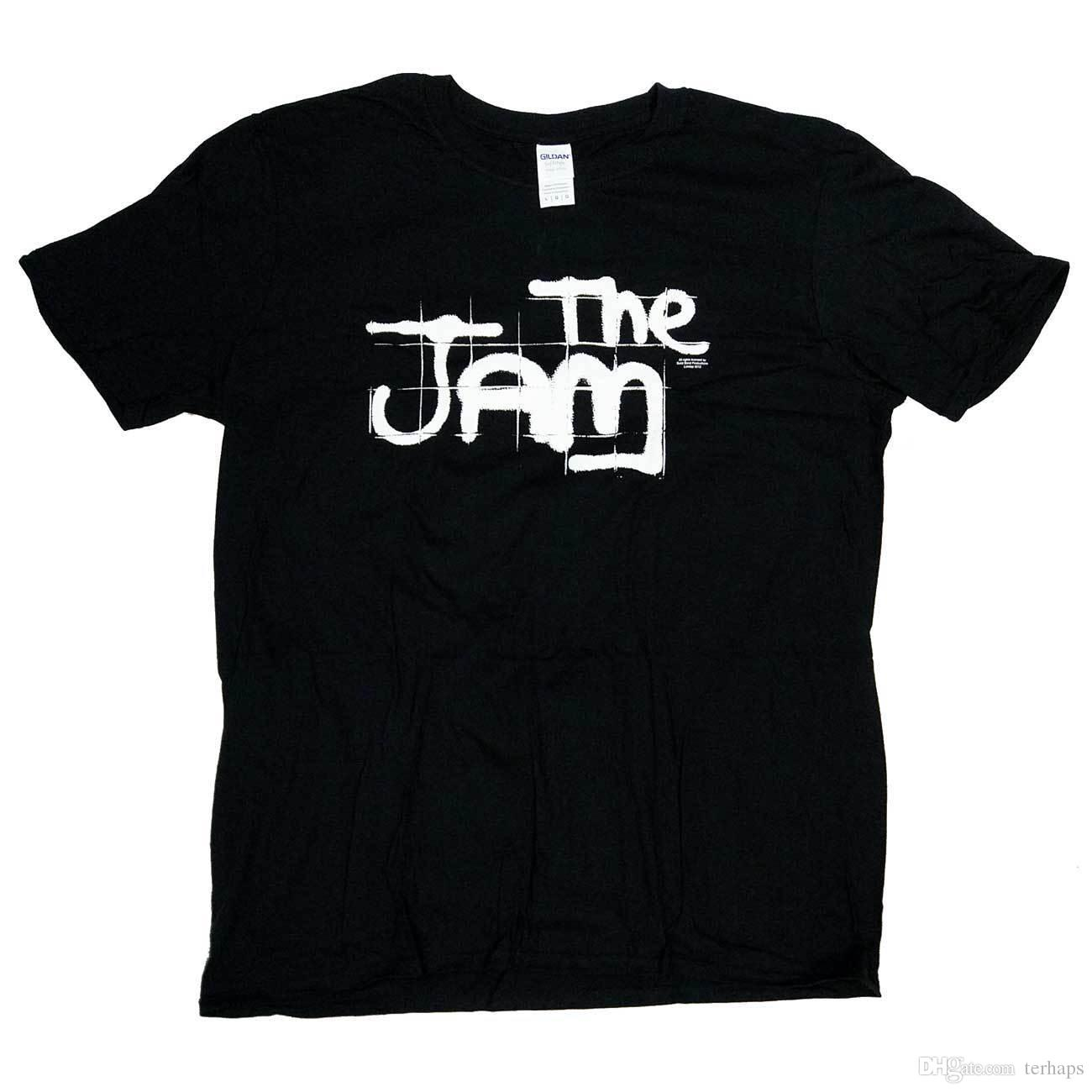 The Jam T Shirt In The City Spray Paint Logo 100 Official Paul