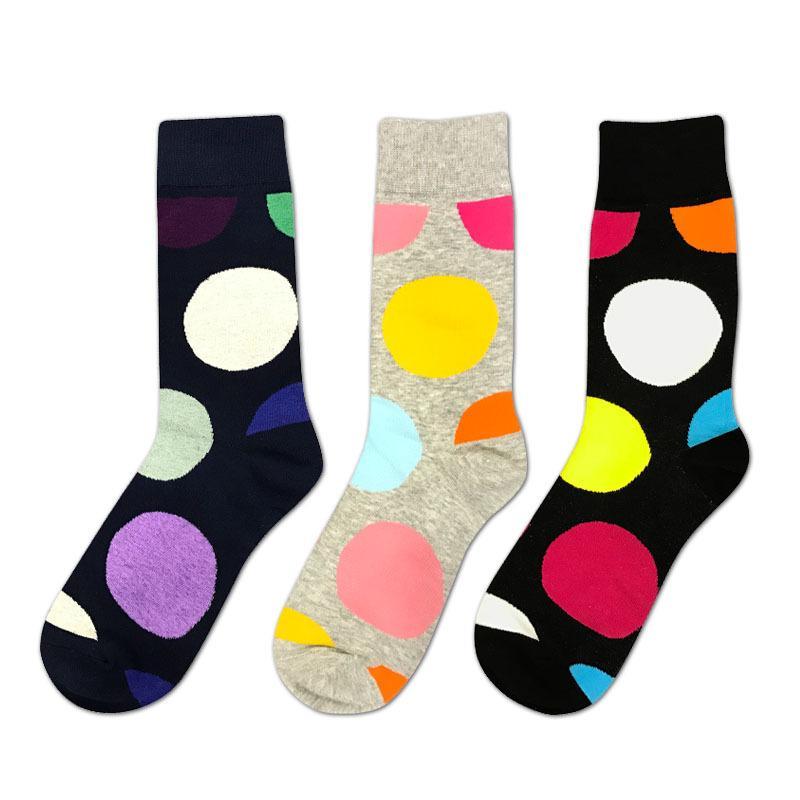 754fb5475ee9 IOLPR Harajuku Happy Socks Men's Colored Dots Funny Socks Men's ...