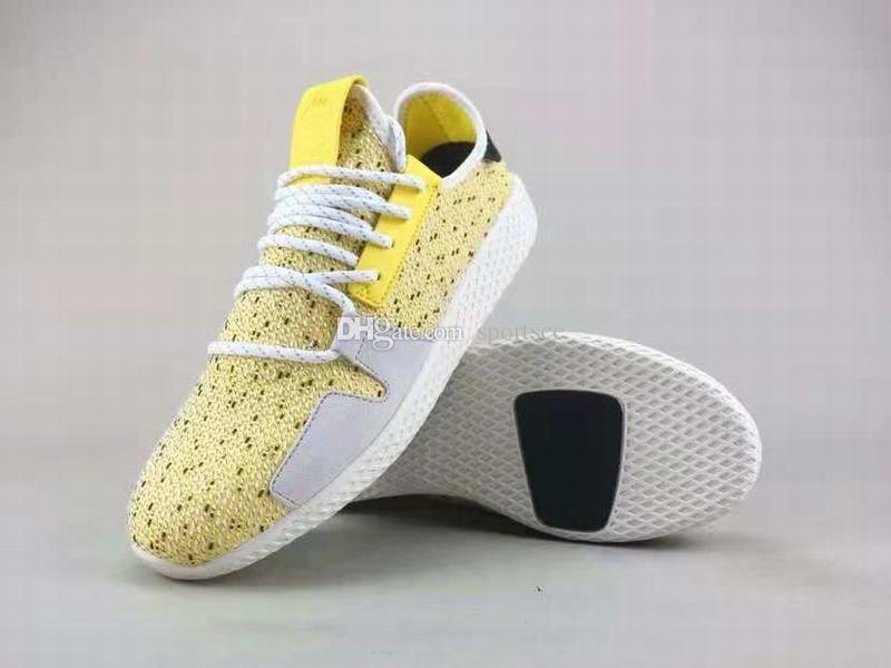 b63c92609 Compre Envío Gratis BBC X Pharrell Solar Tennis Hu V2 Sneaker Hombres  Mujeres Rojo Amarillo Zapatillas Deportivas A  85.28 Del Sportscc