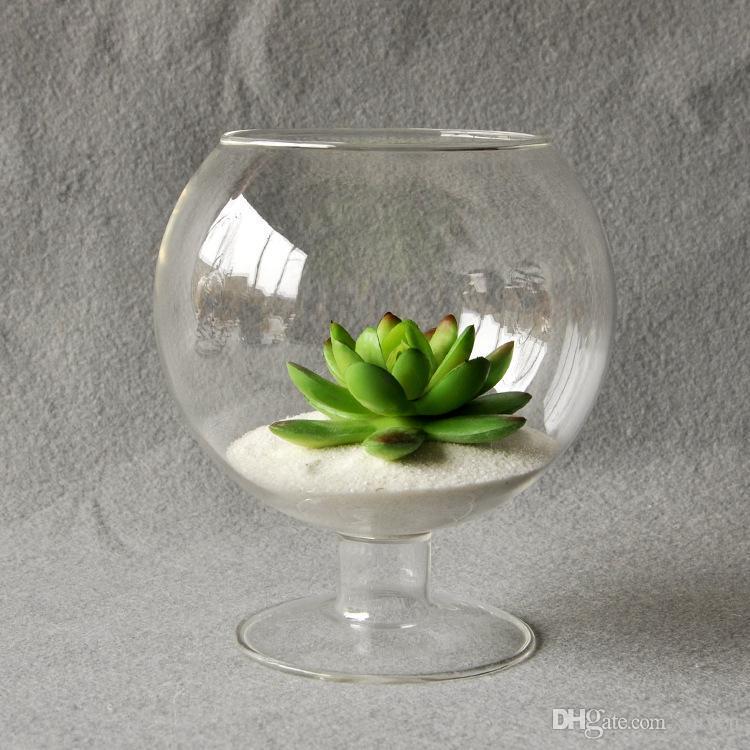 Clear Glass Vase Glass Terrarium Cup Shaped Creative Flower Garden