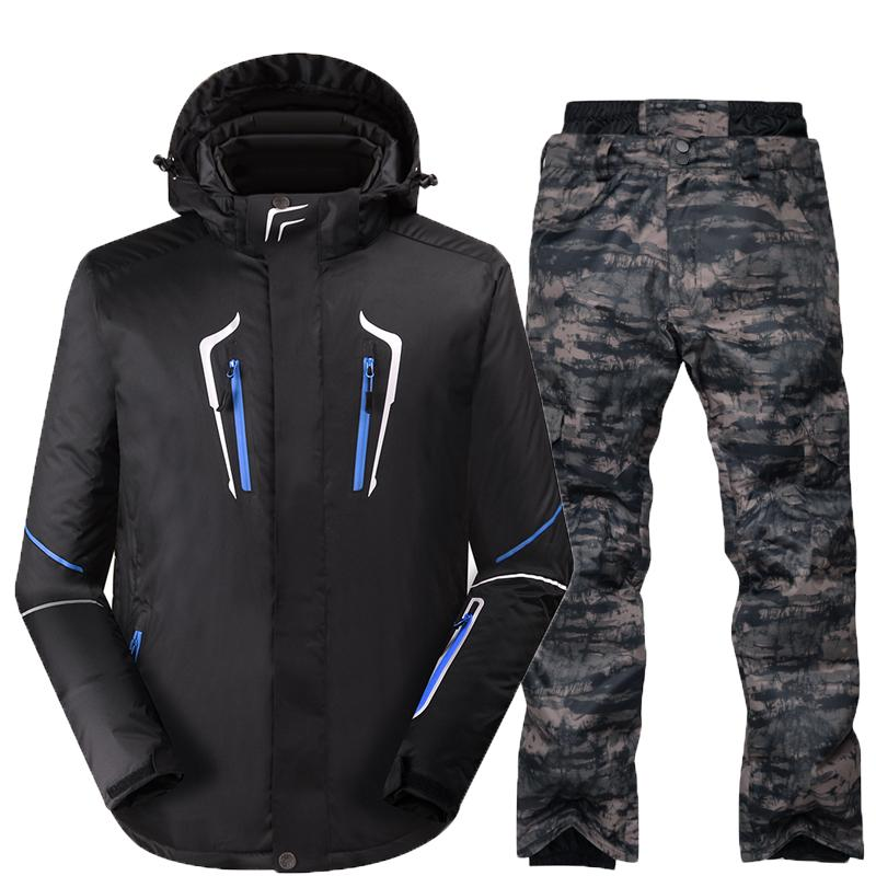 2019 Wholesale 2017 Men S Ski Suit Waterproof Windproof Ski Jacket Pants  Thicken Snow Clothing Trousers Men Snowboard Solid Color Ski Suits From  Stem 62119a20e