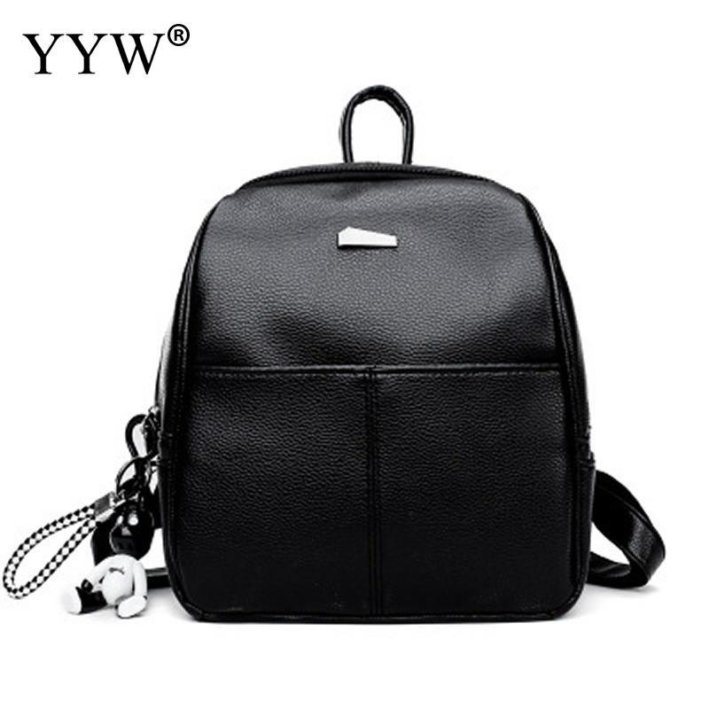 63e8287170 2018 New Leather Backpack Women Casual Small Packet Girls Rucksacks With  Little Bear Doll Female Shopping Bags Ladies Backpacks Back Pack Mochilas  Jansport ...