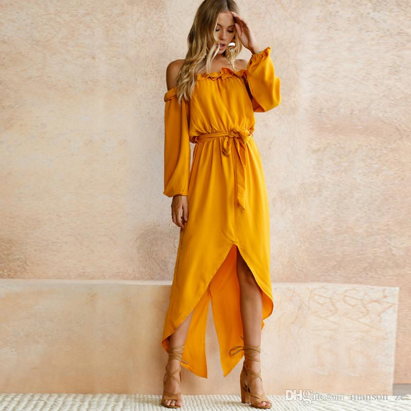 Floral Printe Maxi Women Dress Summer Robe Loose Off Shoulder Side Slit Sexy Boho Chic Ethnic Vintage Holiday Party Beach Dress Dresses