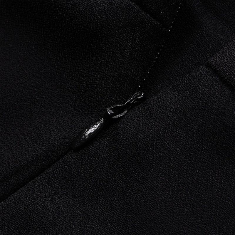 Plus Size Overalls Sommer-Art 2018 Frauen Beiläufige schwarze Rückseite Reißverschluss Hohle Ärmel Lange Playsuits Strampler Frauen Jumpsuit