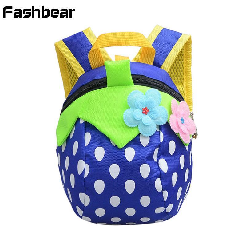 07596ebb4f Kid Backpack For Girls Cartoon Cute Strawberry Anti Lost Backpacks Baby  Kindergarten Schoolbag Children Waterproof Bags Kids Backpack S Girls  Rolling ...