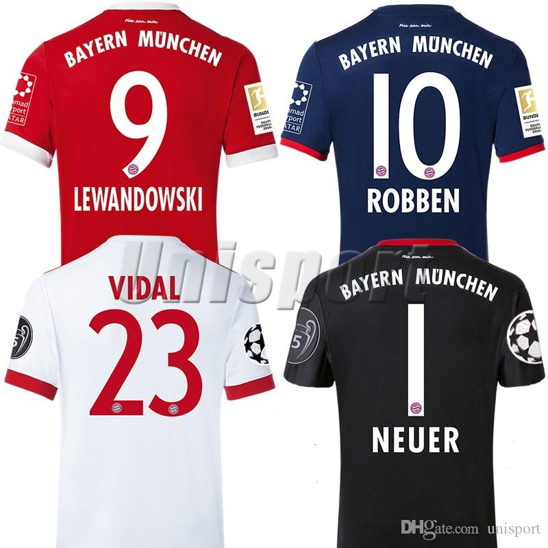 separation shoes 681dc 4ecc8 2017/18 Bayern Munich Soccer Jerseys Lewandowski James Müller Robben Futbol  Camisa Camisetas Shirt Kit Maillot Maglia Tops