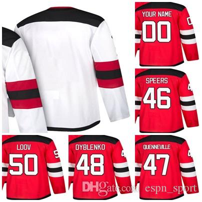 f94bb4fb4 Cheap Mens Womens Kids New Jersey Devils 46 Blake Speers 47 John  Quenneville 48 Yaroslav Dyblenko 50 Viktor Loov Stitched Ice Hockey Jerseys  50 Viktor Loov ...