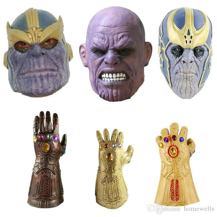Back To Search Resultshome & Garden Event & Party Anime Avengers 3 Thanos Glowing Gloves Infinity War Gloves Thanos Headgear Party Mask Model Toy Party Supplies