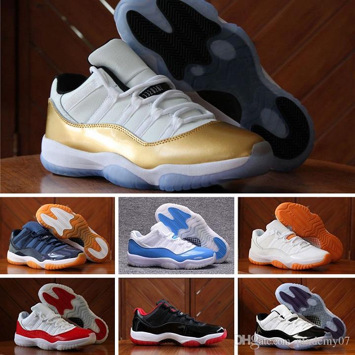 the latest 6e7d7 18759 Acheter Nike Air Jordan 11 Retro Sneakers Avec La Boîte De Haute Qualité 11  Space Jam Bred Concord Chaussures De Basket Ball Hommes Chaussures 11s Gym  Red ...