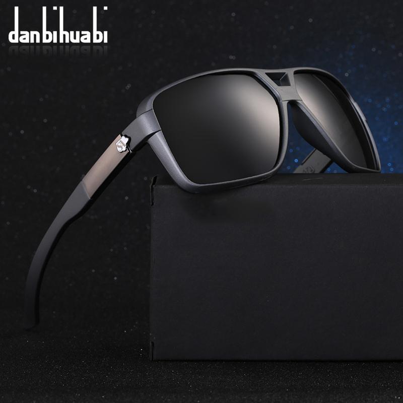 Compre Danbihuabi HD Polarizada Óculos De Sol Dos Homens Cool Design Da  Marca Do Vintage Preto Masculino Óculos De Sol Lentes Polarizadas Eyewear  Shades ... d00d3f403d