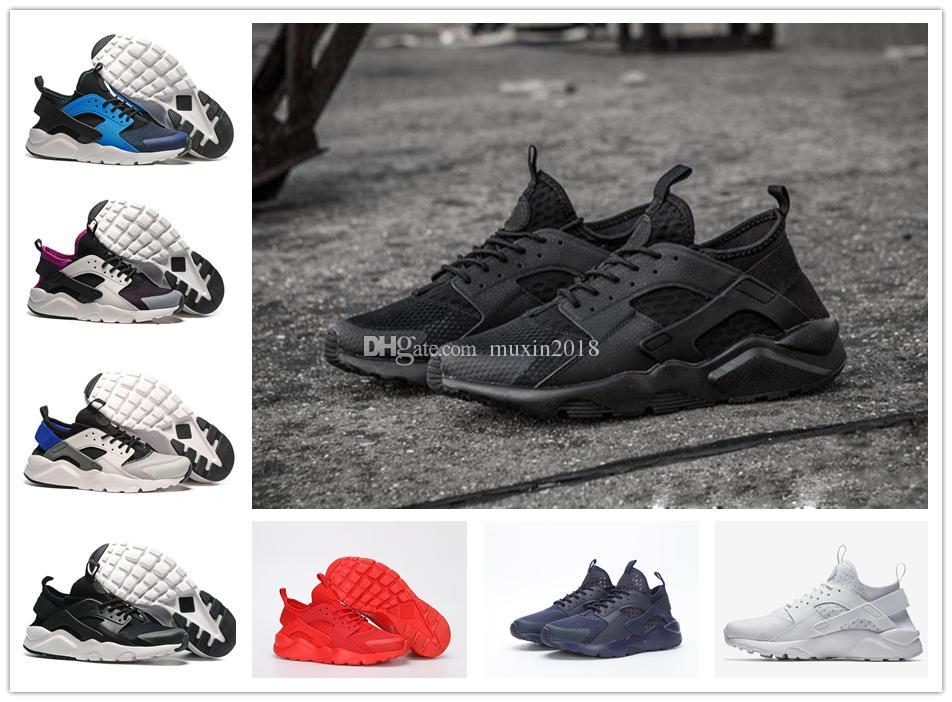 4fd870bd3ce5 2019 Air Huarache 4.0 5.0 Classical Triple White Black Red Gold Men Women  Huarache Shoes Huaraches Sports Sneakers Running Shoes Size 36 45 From  Muxin2018