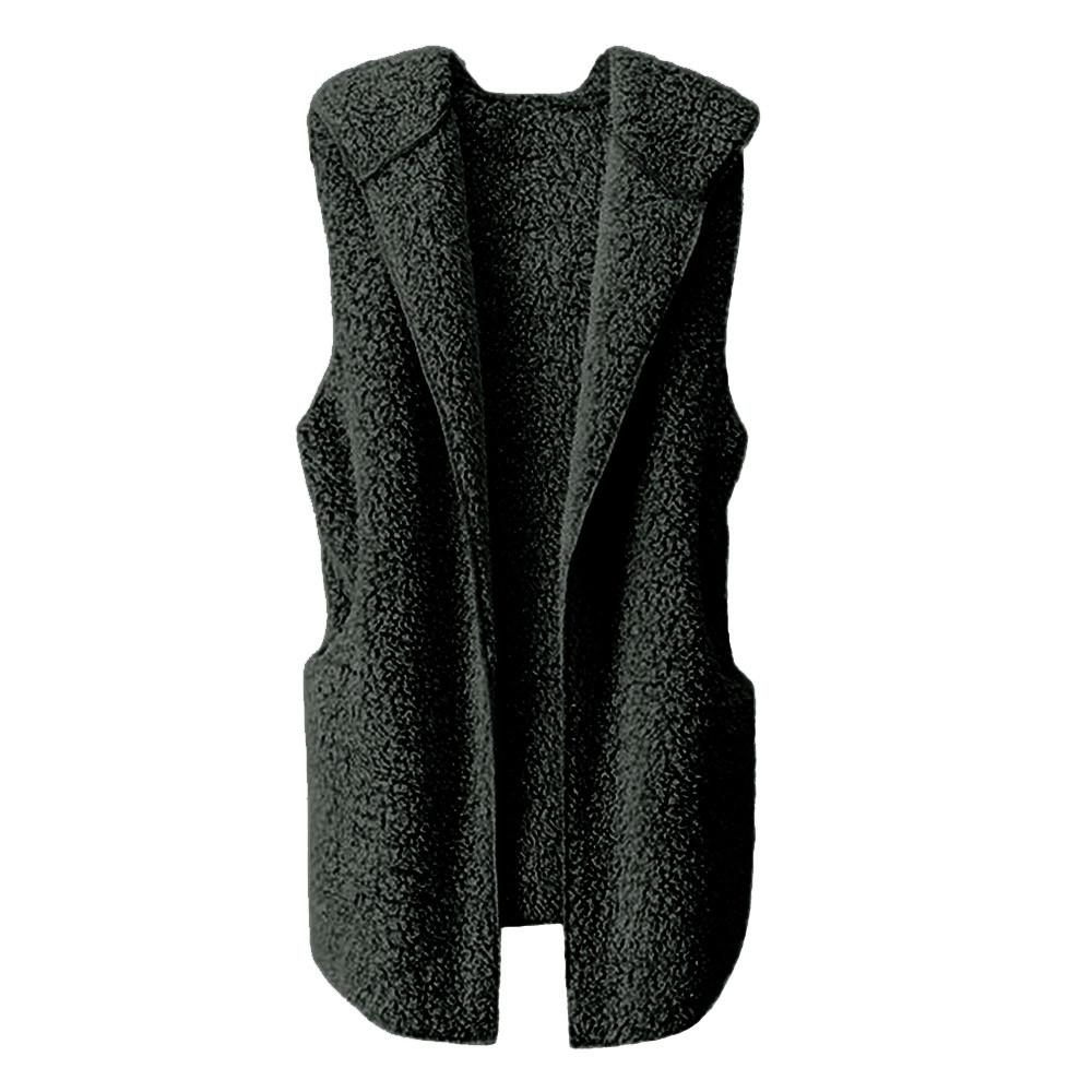 Womens Vest Winter Warm Hoodie Outwear Casual Coat Faux Fur Zip Up Sherpa Jacket Womens Vest Winter Warm Jacket