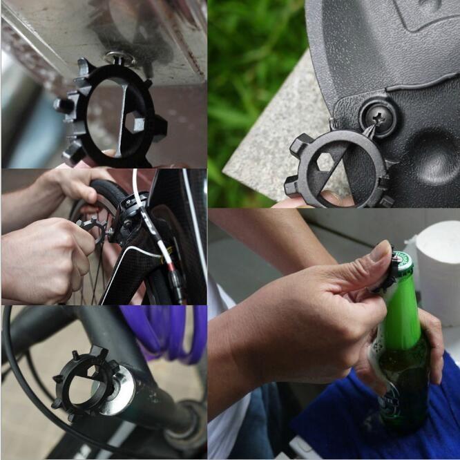 Multi Function Screwdriver Sturdy Octopus Shape Bicycle Repair Tools Durable Stainless Steel EDC Bike Screw Driver pocket hand tool