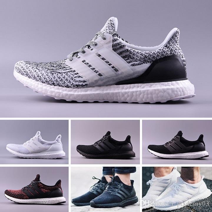 2a130a2c0d6db 2018 Running Shoes Ultra 4.0 3.0 Core Triple Black White Primeknit Runner  Fashion Ultr Sneaker Sports Shoes For Men Women Eur36 47 Dress Shoes For Men  Suede ...