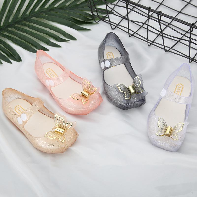 2f4140c316e28 Mini Melissa Butterfly Kids Shoes Saturn Modle Children Jelly Sandals Soft  Bottom Princess Girl 2018 New Summer Size 22 27 Toddlers Slippers Boys Kid  Boots ...