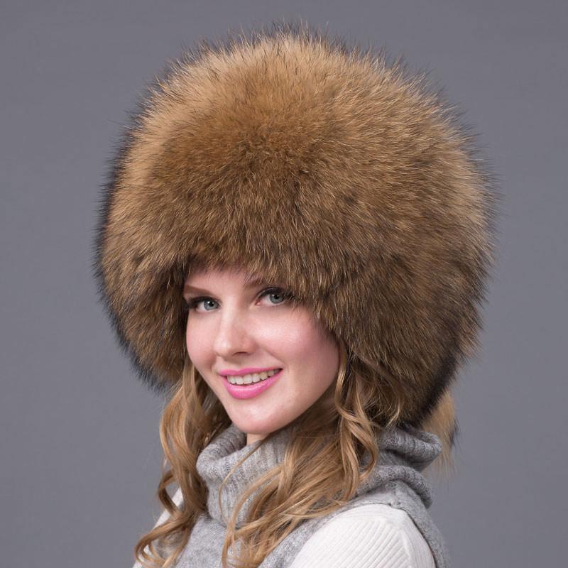 fb7826e6ea0 2019 Winter Women s Leather Hat Fox Earmuffs Russian Women s Lei Feng Cap  Raccoon Fur Hoodie Cap 2018 New Fashion Fur Hat HJL 01 S From Hiramee
