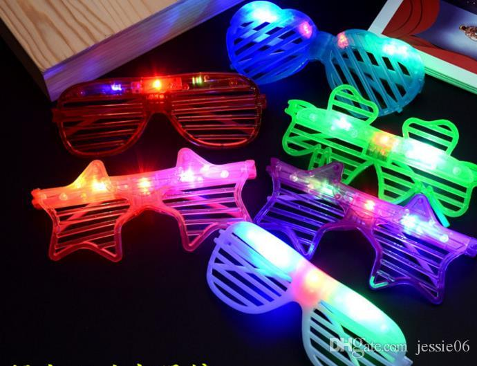 e81dcc03d2 Glow Sunglass Chlidren Adults Christmas Halloween Shutter Shades LED ...