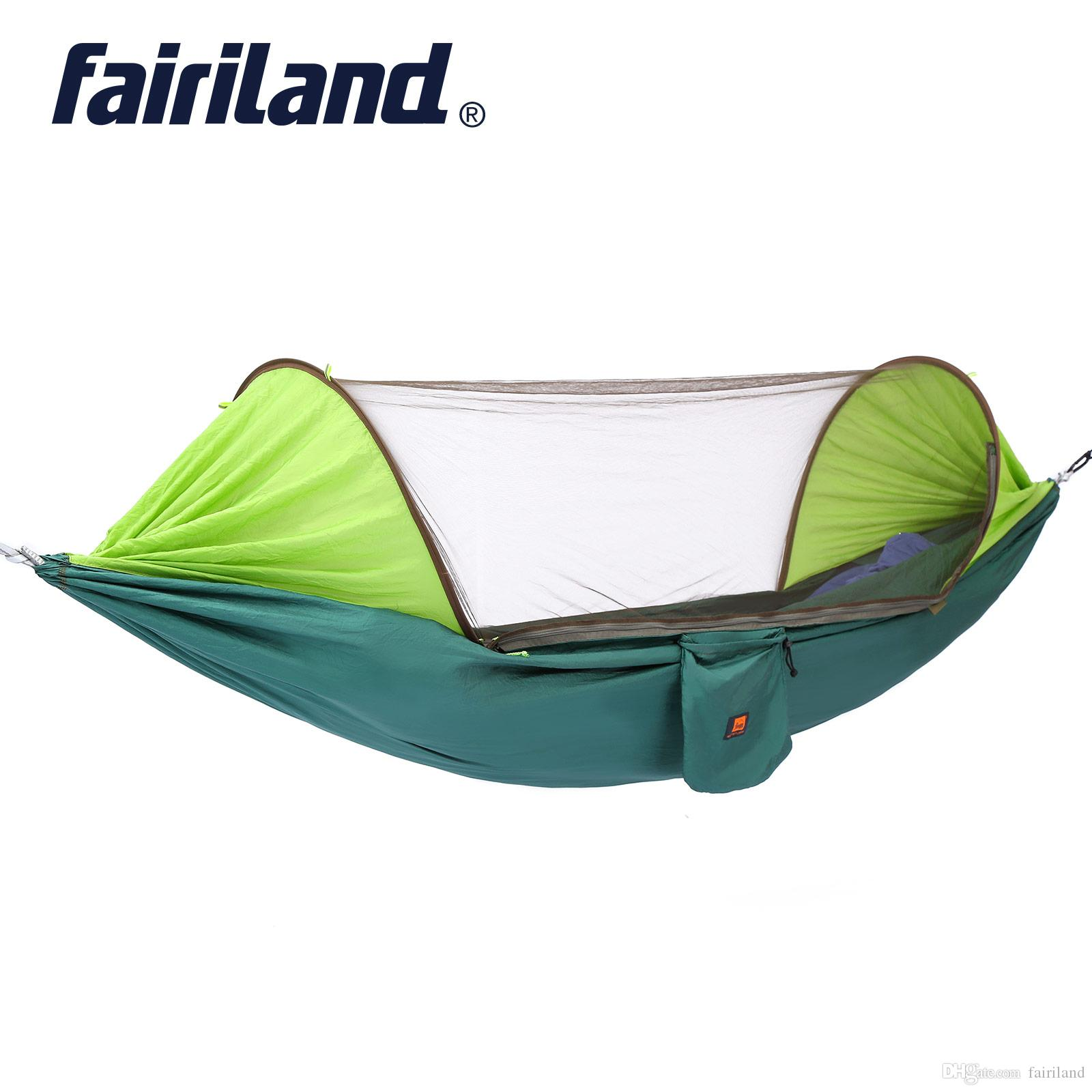 Home Textile Bedding Hammock Mosquito Net Parachute Hammock Outdoor Camping Travel Hanging Portable Bed Hanging Bed Hunting Sleeping Swing