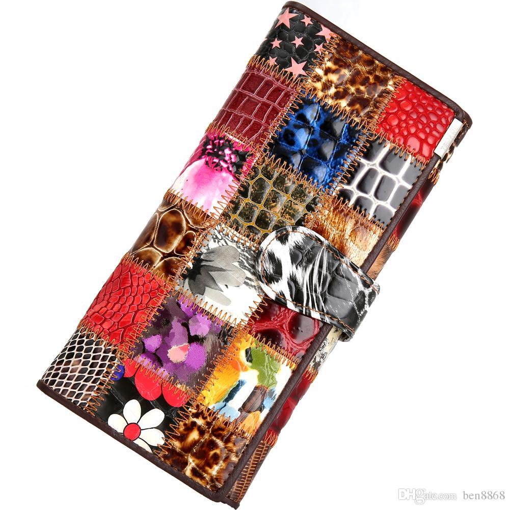Neu Frauen Lange Mode Brieftasche Qualität Visitenkartenetui Dame Kupplung Große Kapazität Handy Halter Weiblichen Geldbeutel 1 Stücke Freies