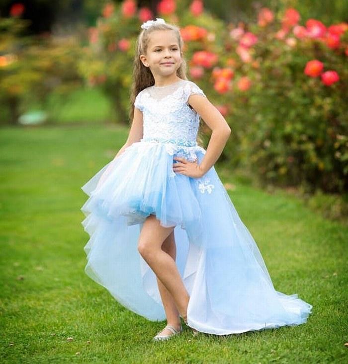 Vestido floral azul claro