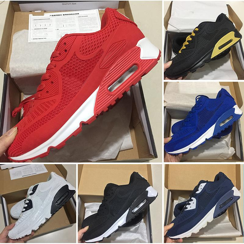 promo code e4a97 ad495 Compre Nike Air Max 90 Trainer Sports Sneakers Sneakers Shoes Classic  Hombres Y Mujeres Zapatos Casuales Trainer Cushion Surface Breathable Shoes  Basketball ...