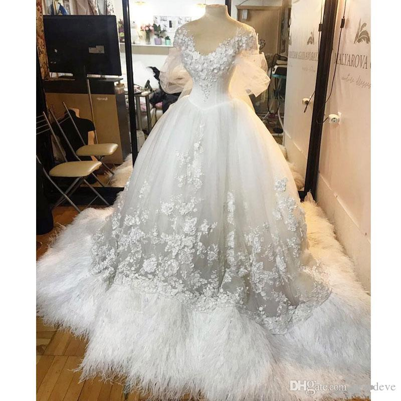 Wedding Gown With Feathers: Feather Wedding Dresses Bridal Gowns Vintage Gothic Ball