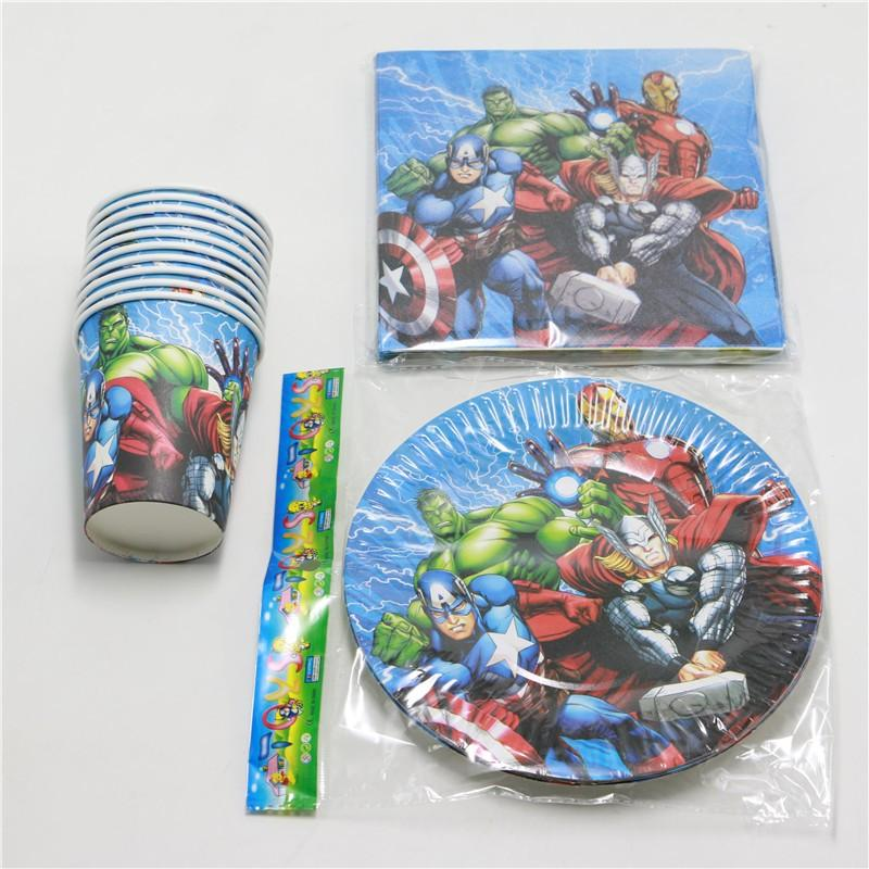 Kids Favors Decoration Party Set Cartoon Birthday Party Paper Plates