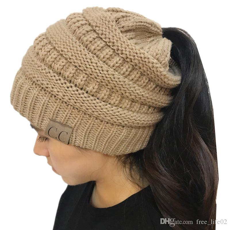 d027fcc09fed81 2019 Wholesale Men Women Beanie Hat Women Winter Knitted Cap Girl Skullies  Beanies Knit Warm Caps Female Knit Stylish Hats For Ladies Fashion From ...
