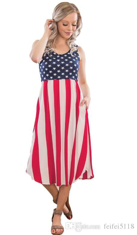 55df1e6131 Fashionable American Flag Dress The size we support is S-XL We will be free  shipping Please rest assured to buy!