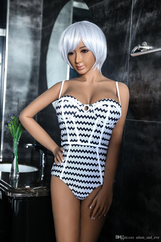 Brown Skin Sex Doll 158cm Silicone Sex Dolls de tamaño natural para hombres Top TPE Material Love Dolls
