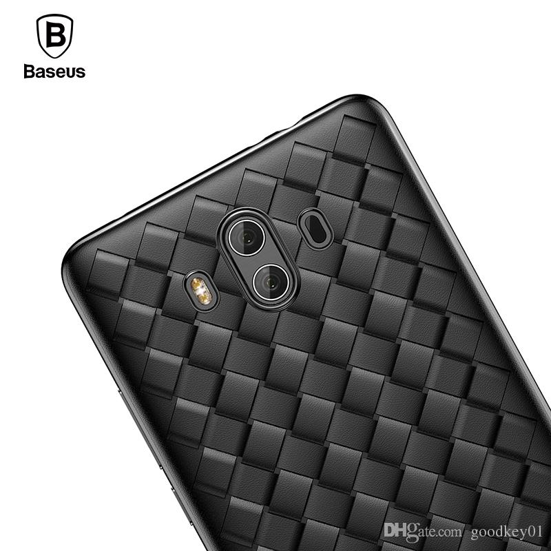 uk availability ea534 707cb For Huawei Mate 10 Case Baseus Creative Grid Weaving Soft Silicone Case For  Huawei Mate 10 Pro Thin Smooth Back Phone Cover