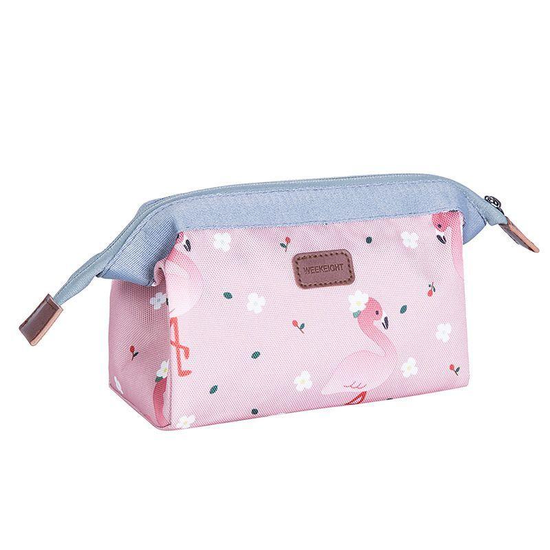 823bb5b39f82 New Arrive Flamingo Cosmetic Bag Women Necessaire Make Up Bag Travel  Waterproof Portable Makeup Bag Toiletry Kits