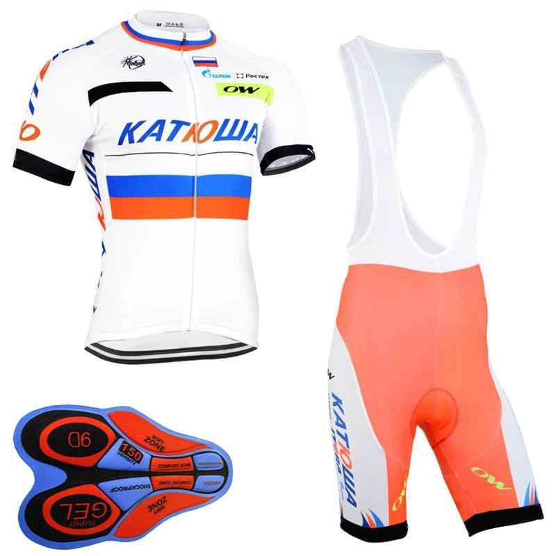 98c363995 KATUSHA Team Cycling Short Sleeves Jersey Bib Shorts Sets Summer Cycling  Outdoor Bike Sports Cycling Clothing 91906F KATUSHA Cycling Clothing Ropa  Ciclismo ...