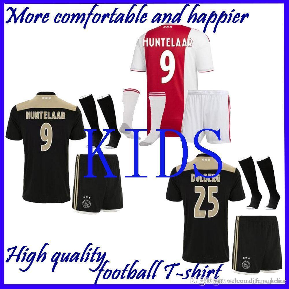 51b45842cf7 Ajax 2018 2019 FC Home Away Soccer Jerseys Kids Kits + Socks 18 19 ...