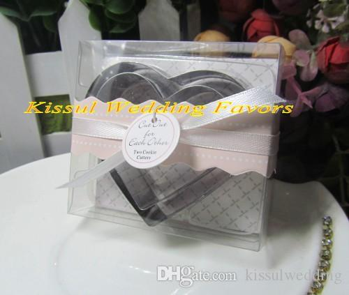 =50boxes= Wedding and Party gift for guests of cut out for each other Love Heart cookie cutter for bridal party favor