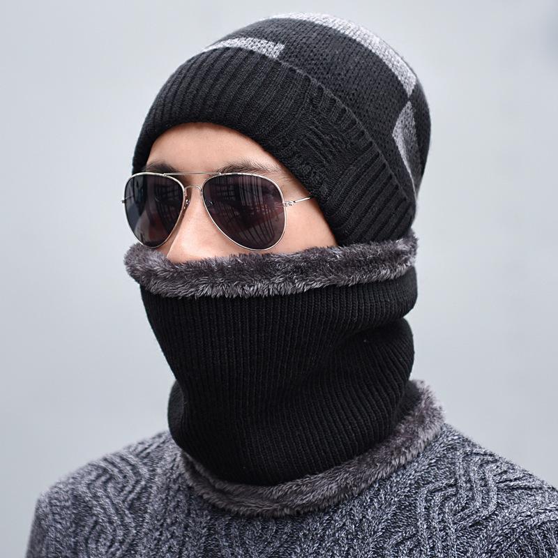 f602dfa7a43 Seioum Winter Hat Scarf Skullies Beanies For Men Knitted Hat Women ...