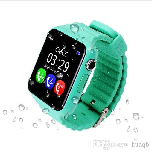 9f8d44d97 V7K GPS Bluetooth Smart Watch For Kids Boy Girl Apple Android Phone Support  SIM TF Dial Call And Push Message Waterproof Smartwatch Cheap Smart Watch  India ...