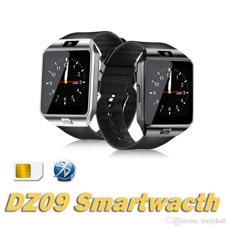 9057775d6 DZ09 Smart Watch Android Smartwatches SIM Intelligent Mobile Phone Watch  Sleep Tracker Camera Answer Call Passometer Retail Package Smartwatch For  Ios ...