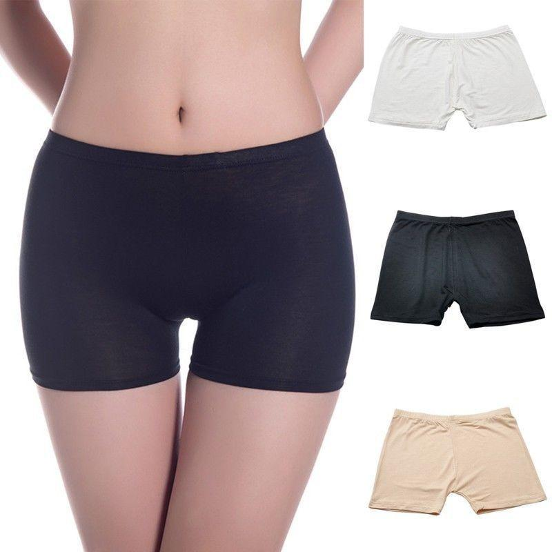 aa3823ccf674c 2019 Hot Sell Stylish Women S Ladies Dancing Shorts High Waisted Elastic  Pants Safety Underwear 3 Colour Solid Safety Short Pants From Marryone