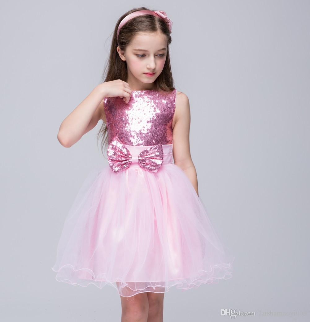 Baby Girl Kids Prom Gown Disegni Party Dress For Girl Principessa bambini Costume For Kids Abiti da cerimonia formale Abiti da cerimonia