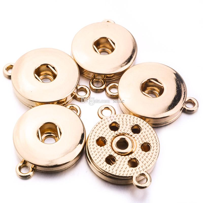 12 Styles Noosa chunks 12MM 18MM Ginger Snap Button Base Jewelry Accessories for DIY Snaps Button Necklace Bracelet