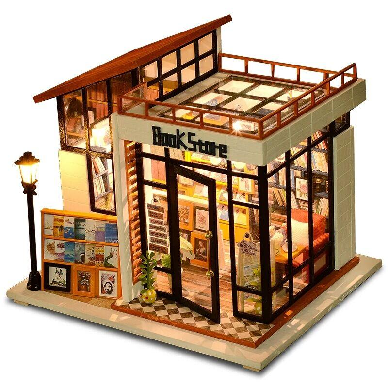 New Doll House Toy Miniature Wooden Doll House Loft With: DIY Doll House Miniature Dollhouse With Furnitures Wooden