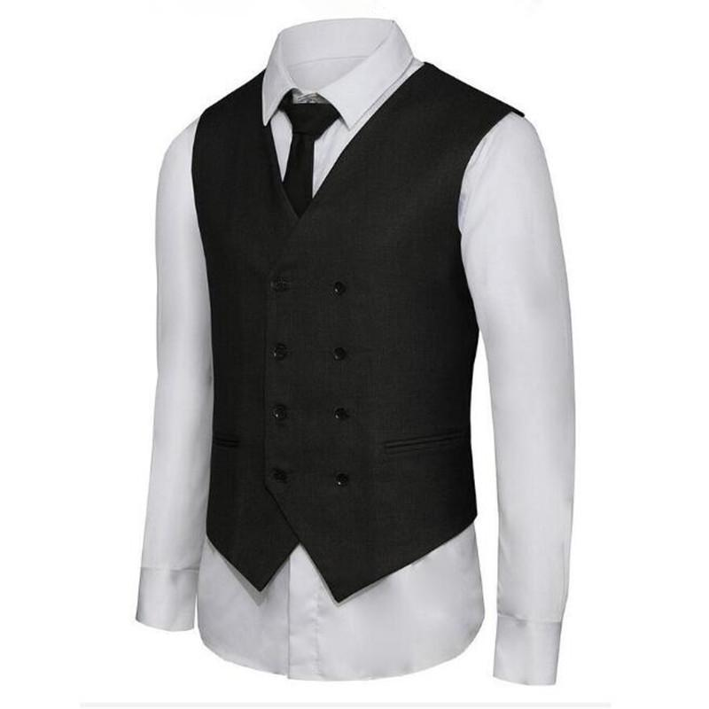 f27a8359615 2019 Latest Design Men Waistcoat Men S Double Breasted Business Suits Dress  Vest Waistcoat Custom Made Formal From Cagney